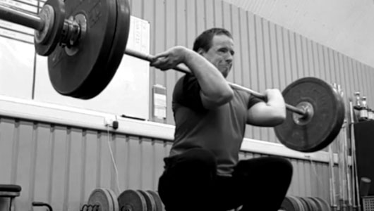 man olympic weight lifting training